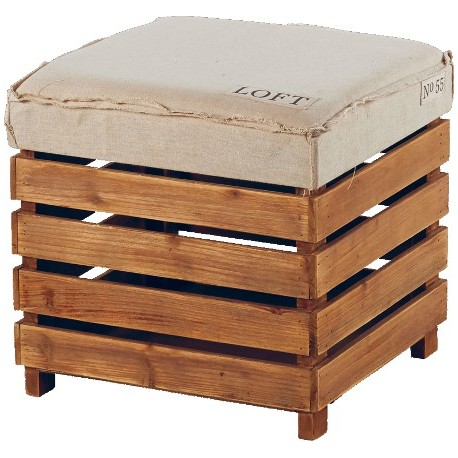 pouf bois loft brooklin sofacasa. Black Bedroom Furniture Sets. Home Design Ideas
