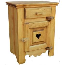 Chevet coeur porte droite taquet bois - Coeur de Montagne
