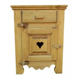 Chevet coeur porte gauche taquet bois - Coeur de Montagne