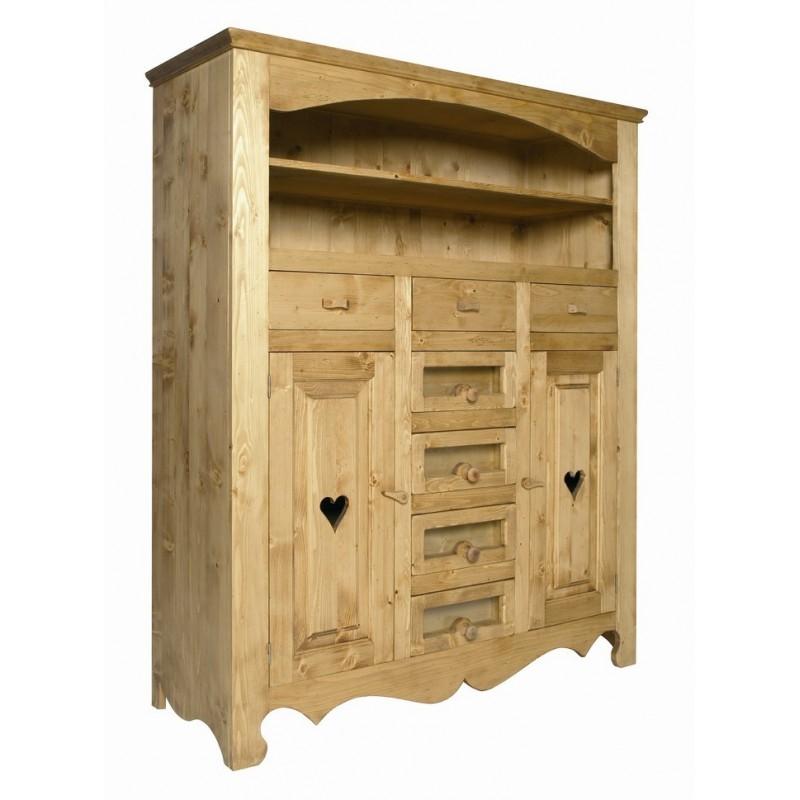 buffet coeur les meubles du chalet. Black Bedroom Furniture Sets. Home Design Ideas