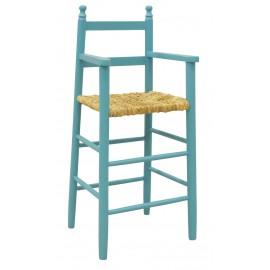 Chaise haute enfant laquée bleu ciel AUBRY GASPARD