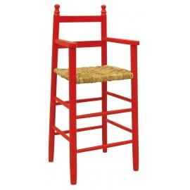 Chaise haute enfant laquée rouge AUBRY GASPARD