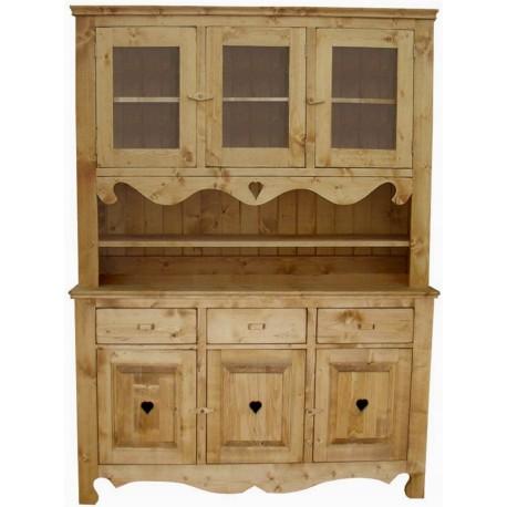 buffet 2 corps 6 portes 3 tiroirs c ur de montagne. Black Bedroom Furniture Sets. Home Design Ideas