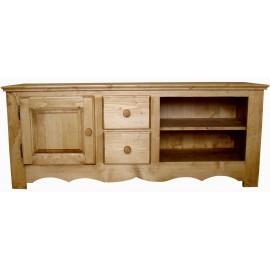 Meuble Tv 1 porte 2 tiroirs 2 niches - Coeur de Montagne
