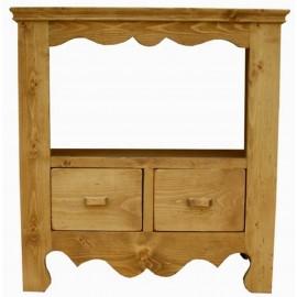 Meuble télé 2 tiroirs 1 niche - Coeur de Montagne