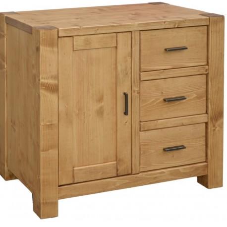 Bahut confiturier 1 porte 3 tiroirs - Scandinavia