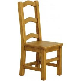 Chaise dessus bois à barettes en pin massif - Charolles