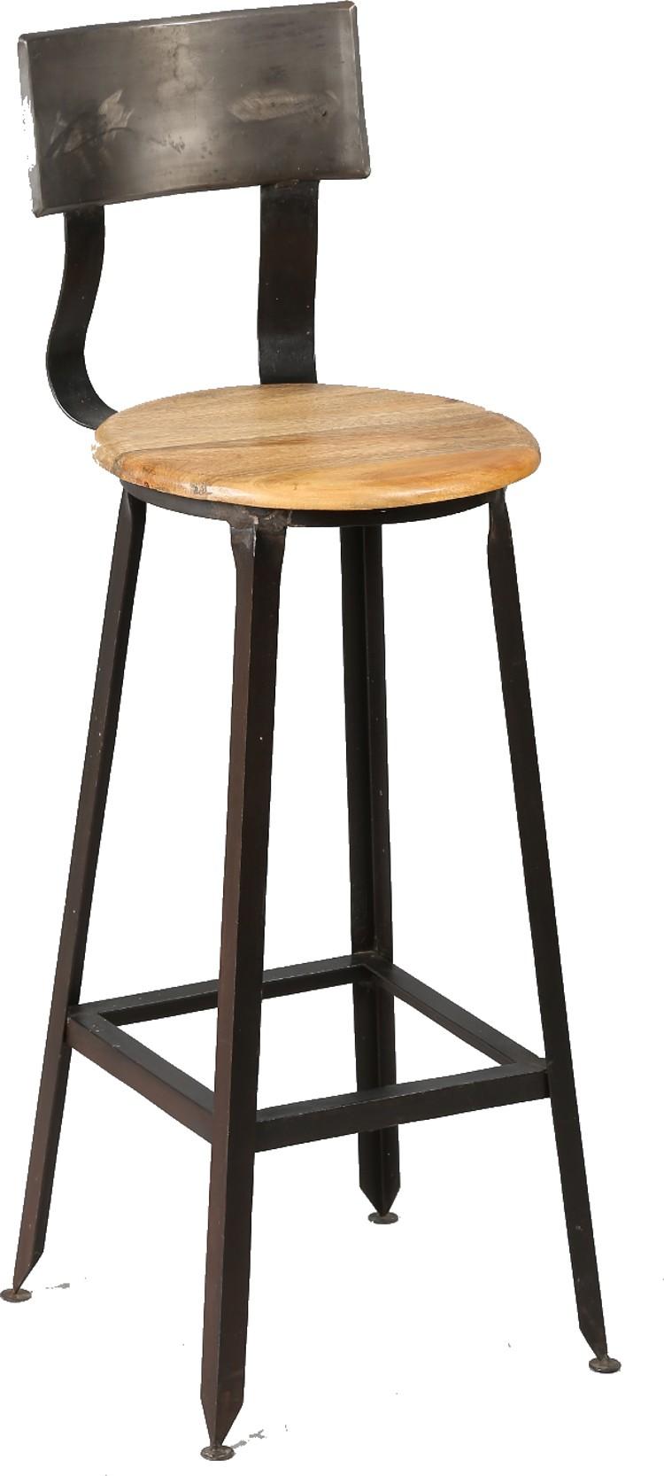Chaise Bois Et Metal Industriel chaise haute industriel en bois et acier
