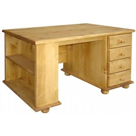 Bureau 4 tiroirs 1 rangement latéral - Val Thorens