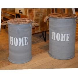Set de 2 pots fer et sapin - Iron Home - Casita