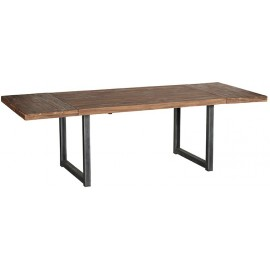 Table rectangulaire teck et 2 allonges - Wales Casita