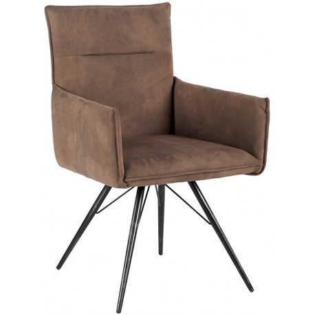 Chaise avec accoudoirs couleur taupe