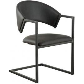 Chaise recouvrement gris et piétement métal - Casita