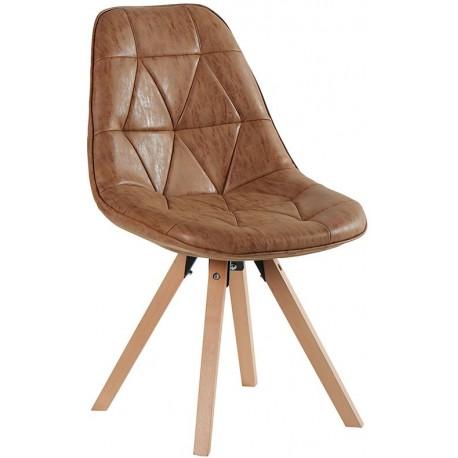 Chaise contemporaine teinte havane - Chayate Casita