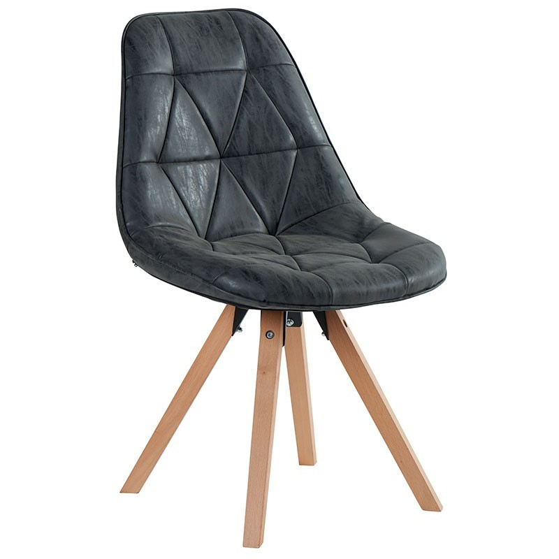 chaise contemporaine teinte noire chayate casita. Black Bedroom Furniture Sets. Home Design Ideas