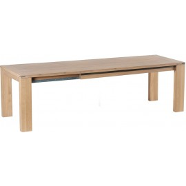 Table rectangulaire allonge 80cm intégrée - Cuneo Casita