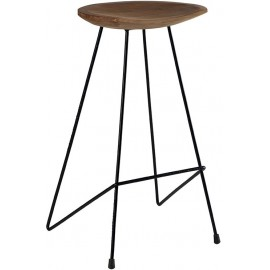 Tabouret de bar teck naturel BENNET CASITA