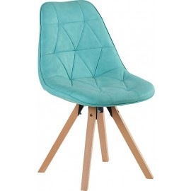 Chaise contemporaine de couleur bleue - Chayate Casita