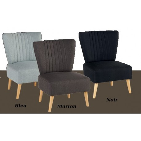 fauteuil tissus bleu yoho. Black Bedroom Furniture Sets. Home Design Ideas