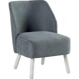 Fauteuil tissu gris clair - Somero