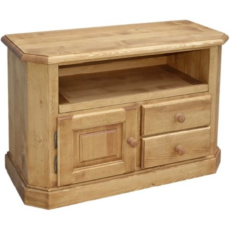meuble tv 1 porte 2 tiroirs pin massif val d isere