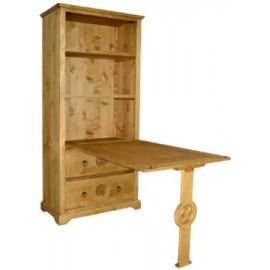 Table de berger sculptée avec tiroirs - Esprit Chalet