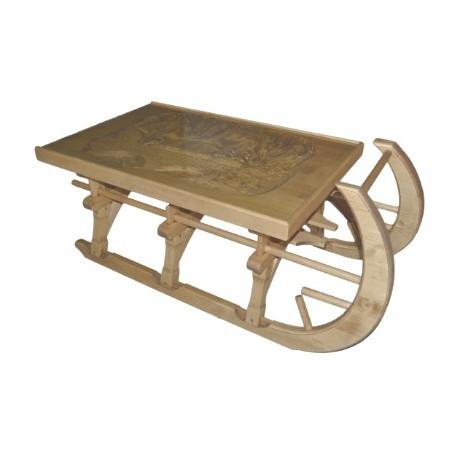 Basse Luge Table Chalet Sculptée Plateau Verre Esprit ucFK1Tl35J
