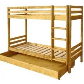 Lits superposés tiroir couchage 90 x 190cm - Val d'Isère