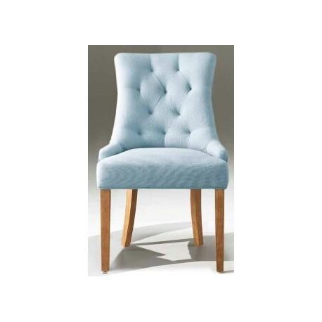 Chaise capitonnée de teinte bleue Nancy