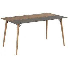 Table rectangulaire 1m50 sapin et métal - Fusion Casita