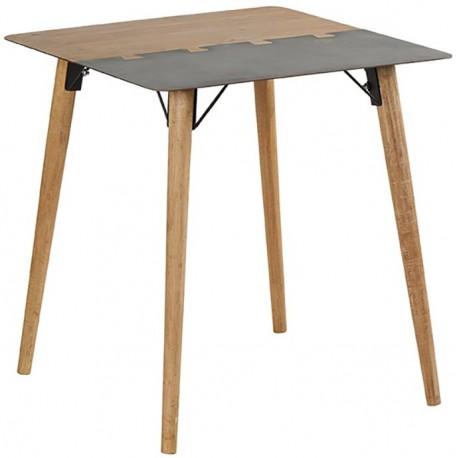 Table carrée 70 x 70 sapin et métal - Fusion Casita