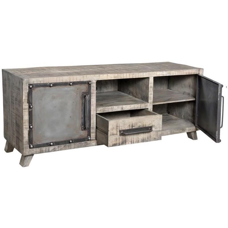 design de qualité 277b8 8385c Meuble Tv bois et métal - Phoenix