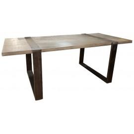 Table 1.80m manguier massif et métal - Phoenix