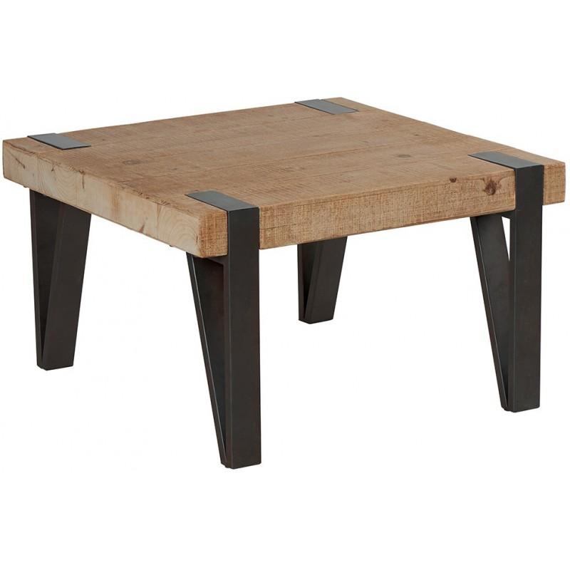 Table basse carr e avec pieds m tal tecya casita for Table basse carree metal
