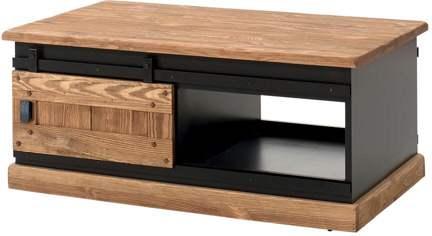 Table basse pin 2 portes coulissantes - Rexton Casita 8518613d576b