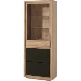 Étagère 1 porte 1 tiroir 2 étagères vitrées - Bunbury Casita