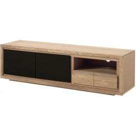 Meuble tv 2 portes 1 niche 1 tiroir - Bunbury Casita