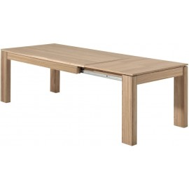Table chêne naturel rectangulaire allonge - Bunbury Casita