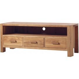 Meuble TV 3 tiroirs 1 niche chêne huilé - Hasley Casita