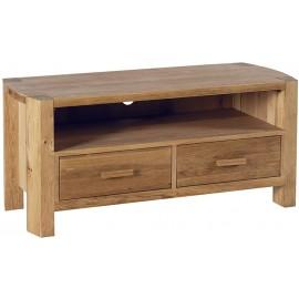 Meuble TV 2 tiroirs 1 niche chêne huilé - Hasley Casita