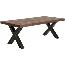 Table rectangulaire 220 teck recyclé - Oregon Casita