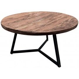 Table basse ronde teck recyclé - Oregon Casita