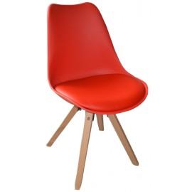Chaise revêtement rouge - Benny Casita