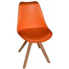 Chaise revêtement orange - Benny Casita