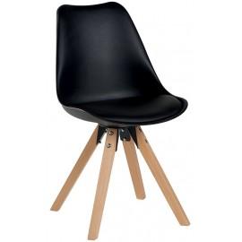 Chaise revêtement noir - Benny Casita