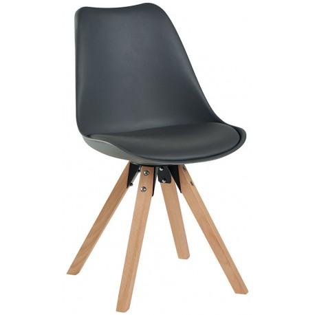 Chaise revêtement gris - Benny Casita