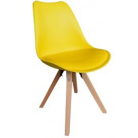Chaise revêtement jaune - Benny Casita