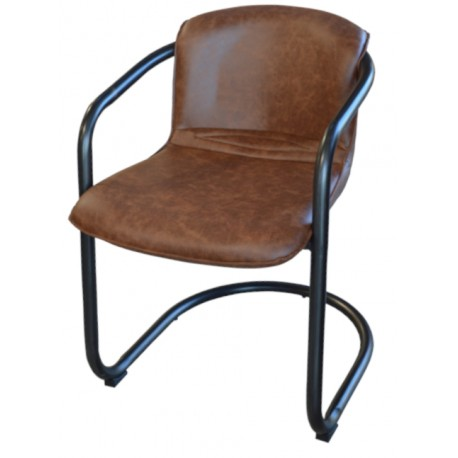 Chaise vintage teinte havane