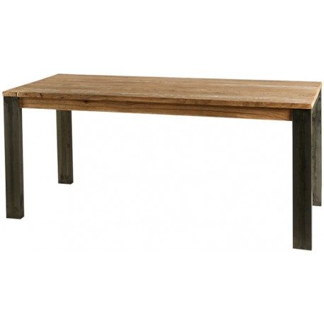 Table rectangulaire 180 cm brossée cérusée - Toronto Casita