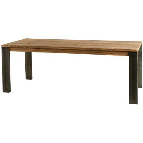 Table rectangulaire 220 cm brossée cérusée - Toronto Casita